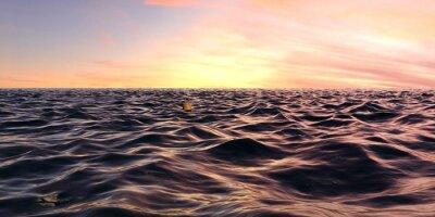 Fototapete Frühe Sonnenaufgang Panorama über Ozean Wellen