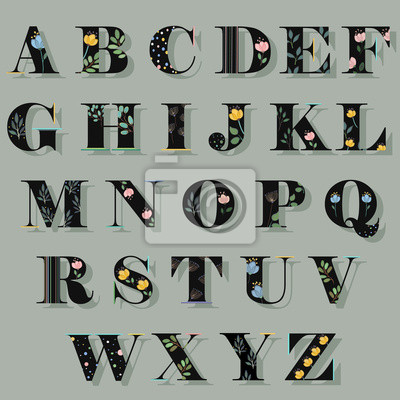 Fototapete Frühling Alphabet Vector Illustration