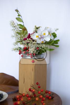 Fruhling Sommer Bouquet Blumenstrauss Weisse Rote Blume Und