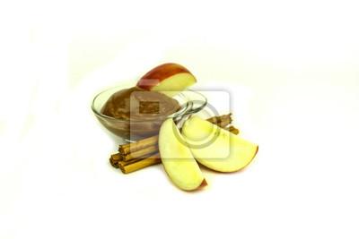 Fuji Äpfel mit Karamell und Zimt würzen