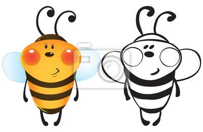 Funny Bee Fototapete Fototapeten Stinger Flügel Malerei