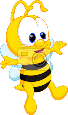 Funny Bee Cartoon Fototapete Fototapeten Honigbiene Hummel