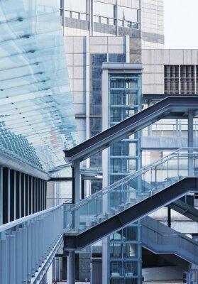 Fototapete Fuß-Brücke und Treppe