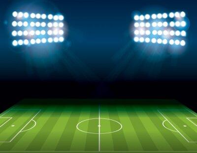 Fototapete Fußball Amerikanischer Fußballplatz Beleuchtet Illustration