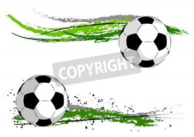 Fototapete Fußball auf dem grünen abstrakt