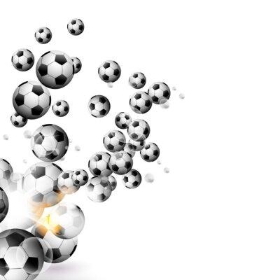 Fototapete Fußball auf einem weißen Hintergrund isoliert