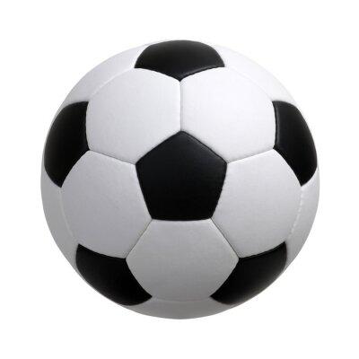 Fototapete Fußball auf Weiß