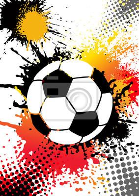 Fußball auf weiß grunge Hintergrund