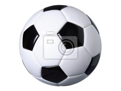 Fußball auf weiß mit Clipping-Pfad