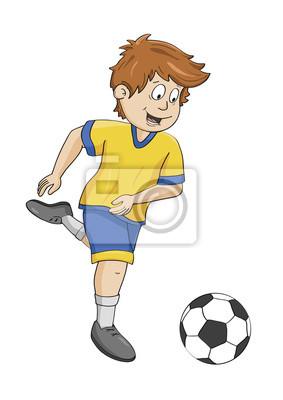 Fußball Ausmalbild Koloriert Fototapete Fototapeten Myloview De
