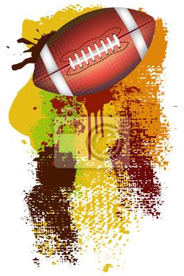 Fußball-Banner. Alle Elemente sind in separaten Ebenen und gruppierte.