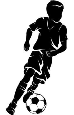 Fußball Boy Dribbeln Silhouette