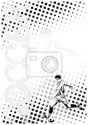 Fußball dots poster background 2