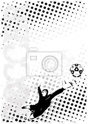 Fußball dots poster background 6
