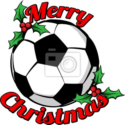 Fussball Frohe Weihnachten Fototapete Fototapeten Frohe