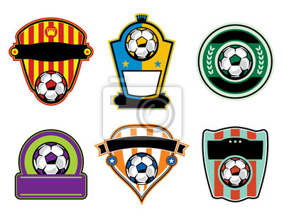 Fußball Fußball Abzeichen und Etiketten
