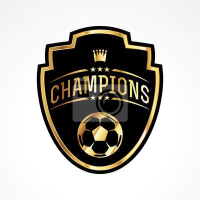 Fußball-Fußball-Meister-Ausweis-Emblem-Illustration