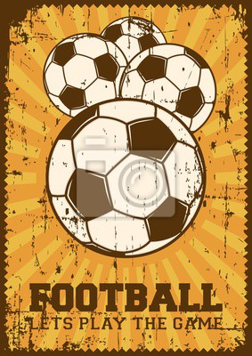 Fussball Fussball Sport Retro Pop Art Plakat Signage