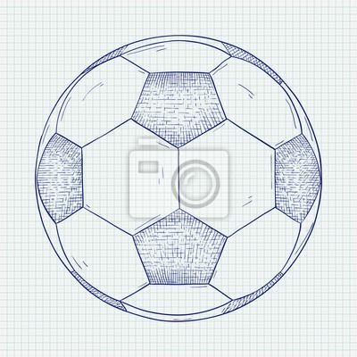 Fussball Hand Gezeichnete Skizze Fototapete Fototapeten