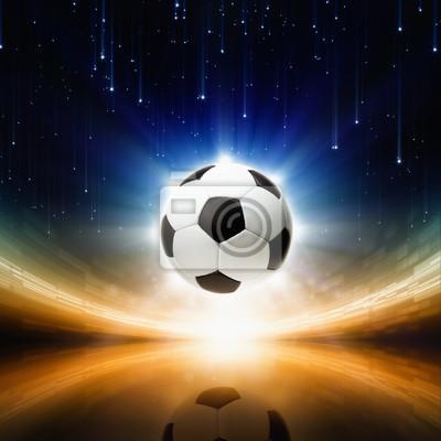 Fußball, helles Licht