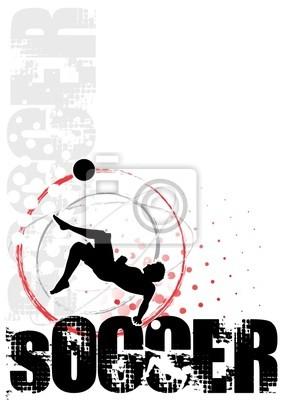 Fußball-Kreis Plakathintergrund 4