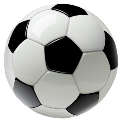 Fototapete Fußball lokalisiert auf Weiß