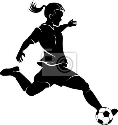 Fußball Mädchen Silhouette