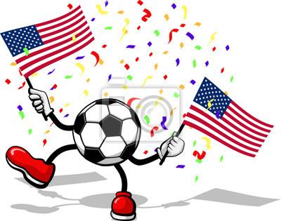 Fußball oder Football-Celebration USA