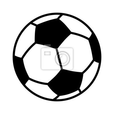 Fototapete Fußball-oder Fußball-Flat-Vektor-Symbol für Sport-Anwendungen und Websites