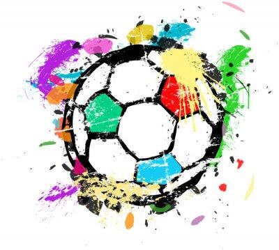 Fototapete Fußball oder Fußball Vektor-Illustration, mehrfarbige Farbe splas