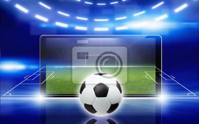 Fußball-Online-Konzept