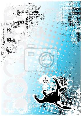 Fußball Poster blauem Hintergrund 3