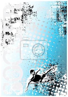 Fußball Poster blauem Hintergrund 4