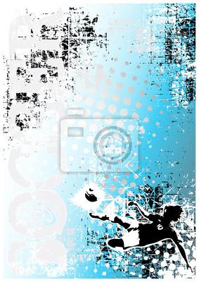 Fußball Poster blauem Hintergrund 6