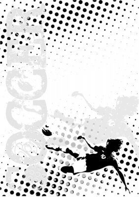Fußball Punkte Poster Hintergrund