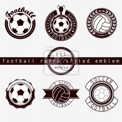 Fußball Retro-Stil Emblem