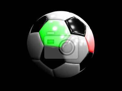 Fototapete Fussball Rot Weiss Grun