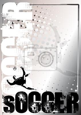 Fußball Silber Plakat Hintergrund 2