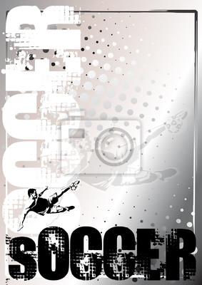 Fußball Silber Plakat Hintergrund 3