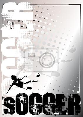 Fußball Silber Plakat Hintergrund 5
