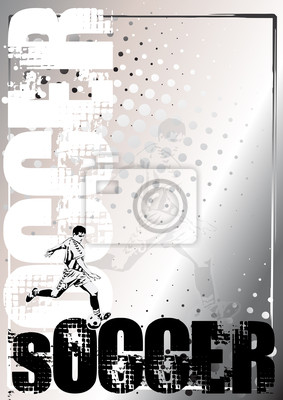 Fußball Silber poster background 1