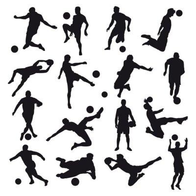 Fototapete Fußball-Silhouetten