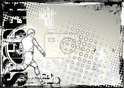 Fußball Skizzieren Hintergrund