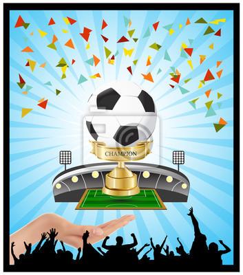 Fußball Spiele Gold Cup Gewinner Halt in der Hand
