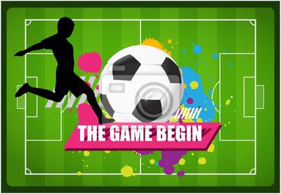 Fußball-Spiele-Player mit bunter Malerei