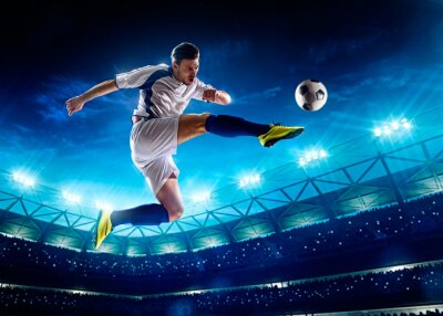 Fototapete Fußball-Spieler in Aktion