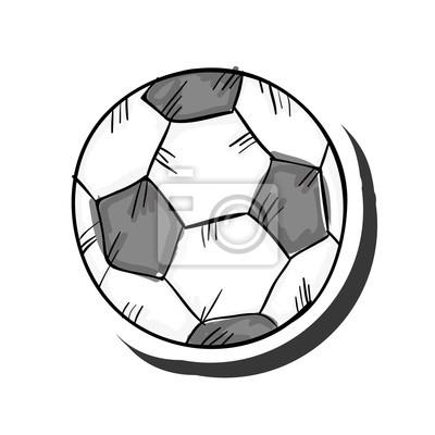Fototapete Fussball Sport Spiel Ausrustung Gezeichnet Abbildung