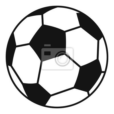 Fussball Symbol Einfache Darstellung Der Fussball Vektor