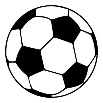 Fototapete Fußball-Symbol, einfachen schwarzen Stil