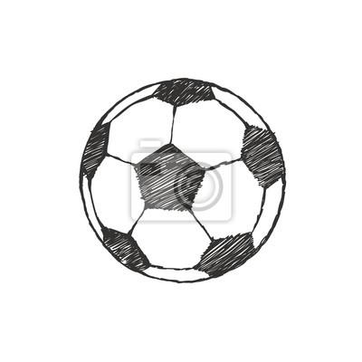Fussball Symbol Skizze Fussball Von Hand Gezeichnet In